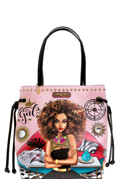 "NICOLE LEE ""SUPER ROXANA"" TOTE BAG"