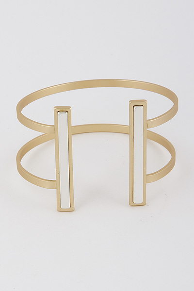 Shifted Bar Bracelet