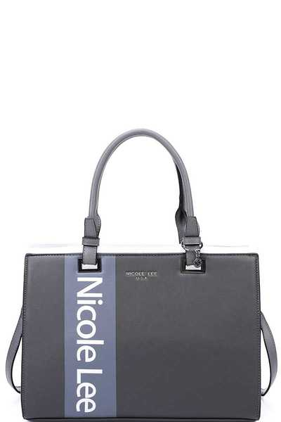 Nicole Lee MODERN STYLISH LOGO TOTE BAG WITH STRAP