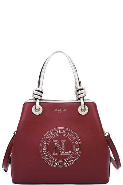 Nicole Lee STYLISH LOGO MODERN SATCHEL WITH STRAP