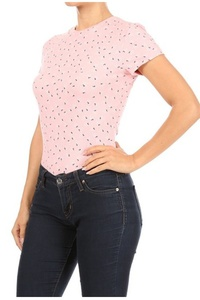 Womens Bodysuits T-Shirt Tops With Short Sleeves