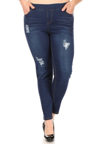 Plus Size Skinny Denim Jeans Jeggings Pants