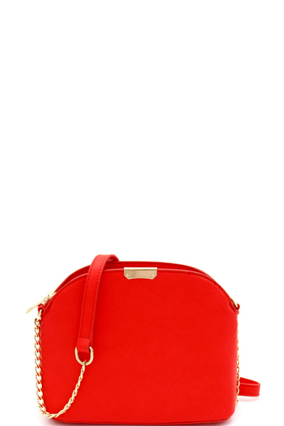 Hardware Accent 3-Compartment Dome-Shaped Cross Body