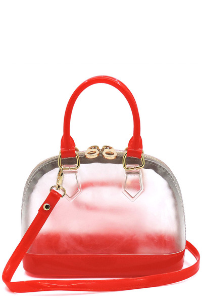 Jelly Candy See Thru Cute Dome Satchel