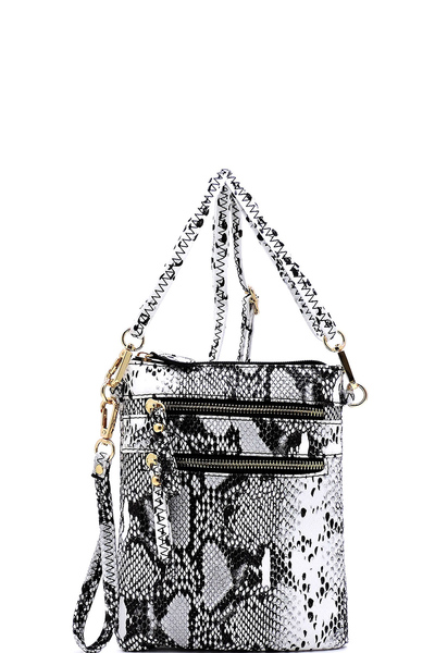 Python Snake Skin Cross Body Bag