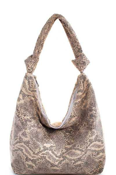 Triple 7 Street Level PYTHON PATTERN HOBO BAG