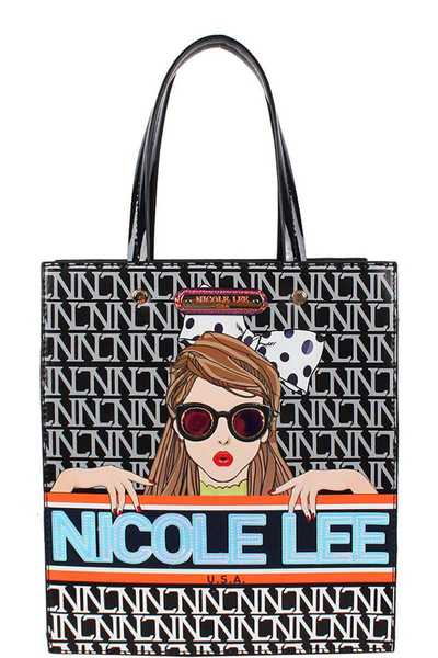 Nicole Lee See My Sweetheart Print Tote Bag