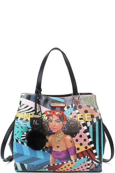 Nicole Lee FUN ASYMMETRICAL TOTE BAG