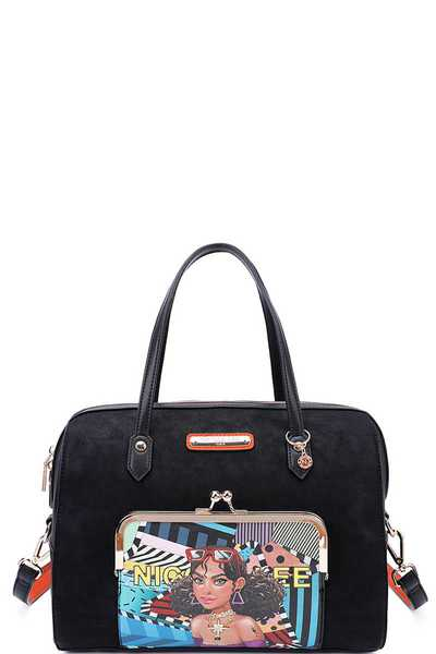 Nicole Lee CUTE TIARA  HAUTE BOSTON BAG WITH STRAP