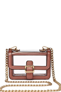 Fashion See Thru Boxy Satchel