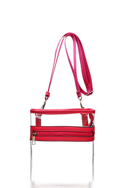 Premium Clear Small Messenger Crossbody Bag