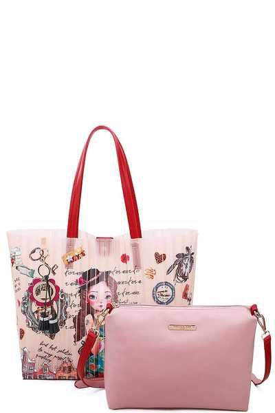 Nicole Lee JELLY PRINTED MEDIUM SHOPPER BAG