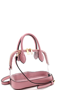 Transparent Clear Dome-Shaped Medium Satchel