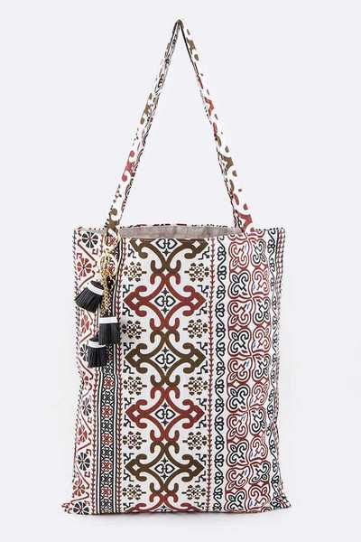 Iconic Swirl Pattern Canvas Tote