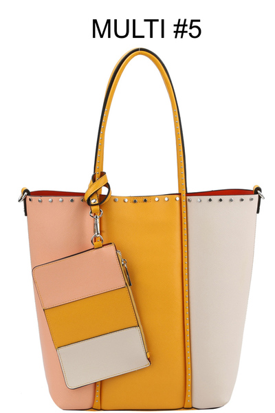 "Trendy Multi Colors "" 3 In 1 "" Fashion Bag"