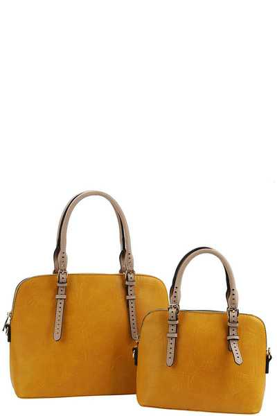 2IN1 CUTE MODERN SATCHEL SET WITH LONG STRAP