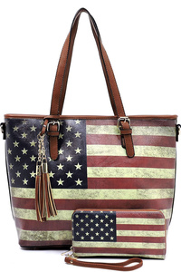 US Flag 2-in-1 Shopper Tote