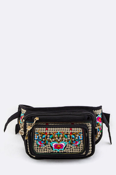 Embroidered Fashion Fanny Pack