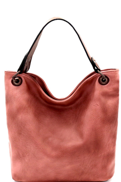 Brushed Texture 2 Tone Rustic Medium Hobo