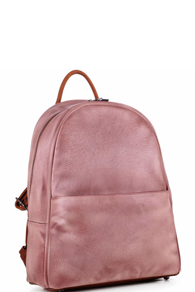 Brushed Texture Two-Tone Rustic Fashion Backpack