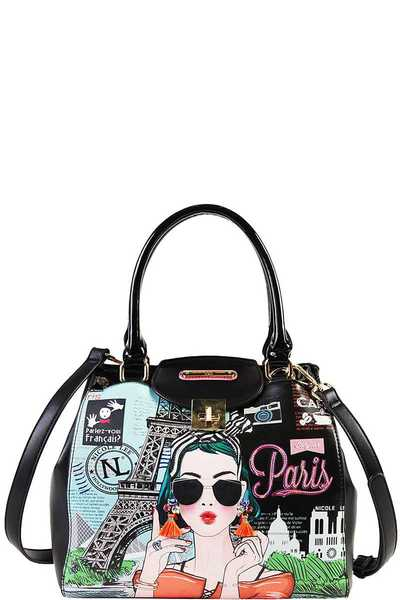 Nicole Lee STYLISH PARIS BOSTON BAG