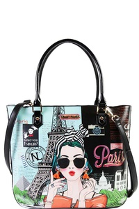 Nicole Lee STYLISH PARIS SHOPPER BAG