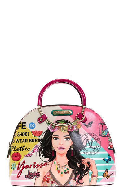 "NICOLE LEE ""YARISSA"" DOME BAG"