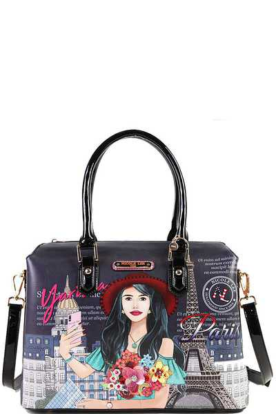 Nicole Lee Yarissa Loves Selfie Print Satchel