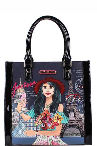 Nicole Lee Yarissa Loves Selfie Print Tote Bag
