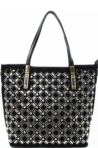 Rhinestones Decorated Fashion Handbag