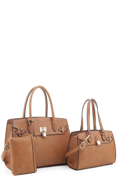 Fashion Lock 3-in-1 Satchel