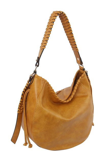 Fashion Whipstitch Hobo Shoulder Bag