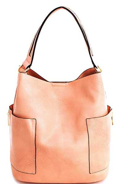 2in1 Chic Modern Trendy Satchel with Long Strap