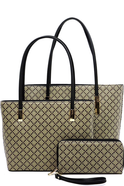 Diamond Check 2-in-1 Tote