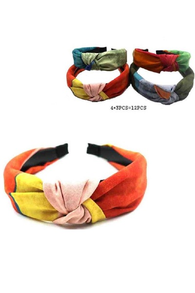 COLOR BLOCK KNOTTED HEADBAND