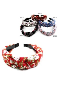 FLOWER PRINTED KNOTTED HEADBAND