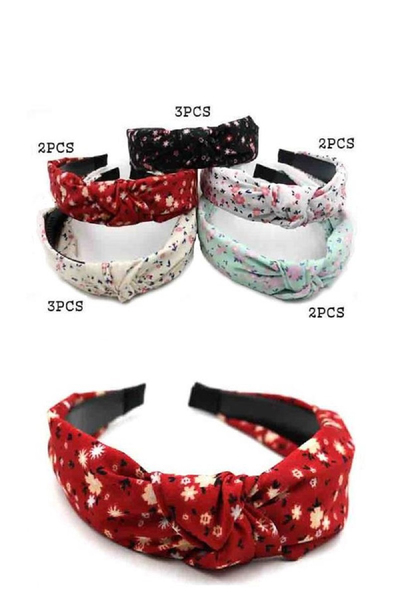 Flower Print Knotted Headband