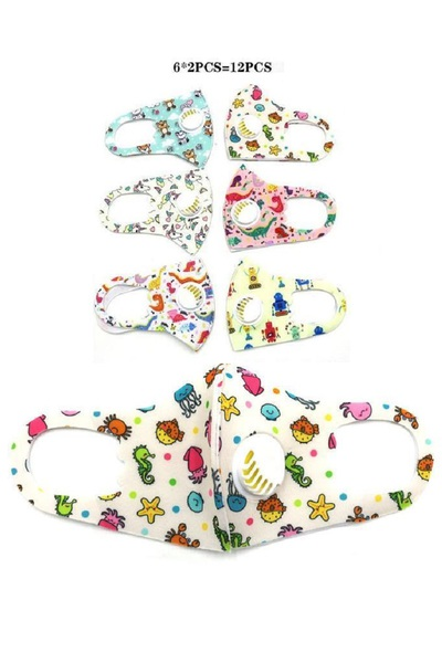 Kids Mix Print Mask Set