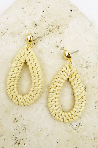 ELIZA WICKER TEARDROP EARRING