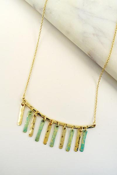 HORIZONTAL BAR MULTI DROP NECKLACE