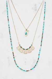 SEAD BEAD MULTI LAYER NECKLACE SET