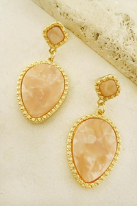 HOLLY TEARDROP FRAMED EARRINGS