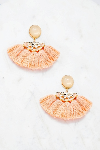 CUTE FAN TASSEL STYLE EARRING