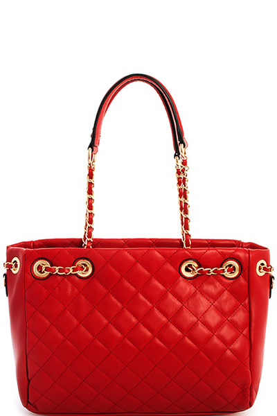 3in1 Hot Trendy Quilted Satchel With Long Strap
