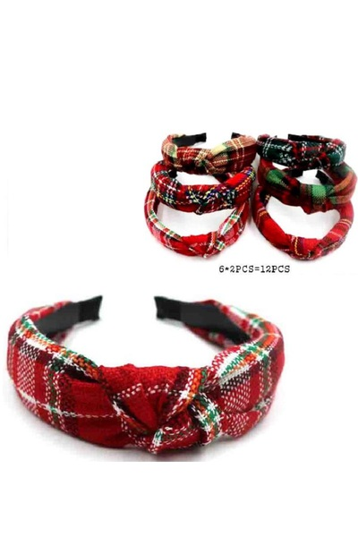 Plaid Pattern knotted Hairband