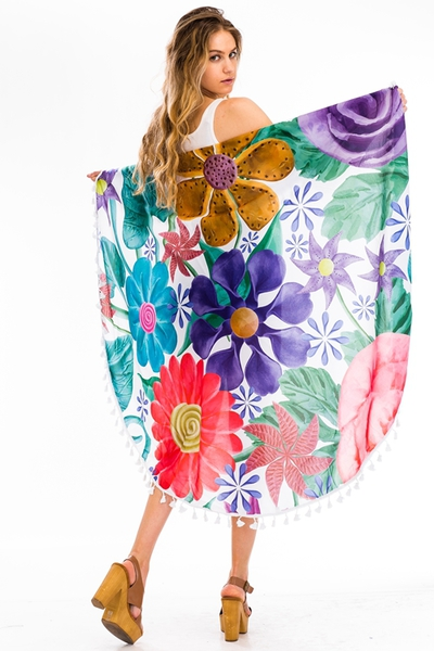 Floral Beach Throw