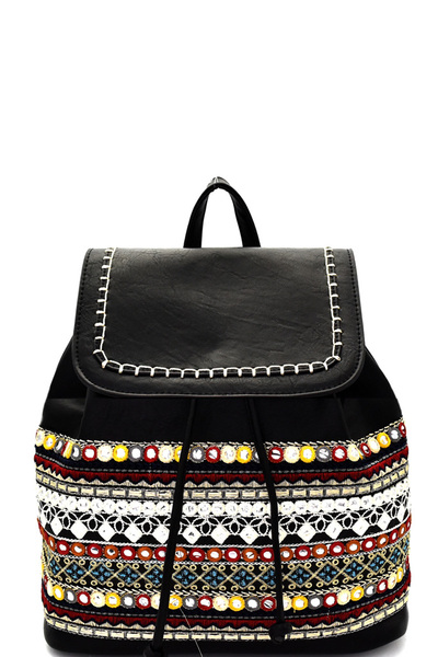 Bohemian Style Embroidered Backpack