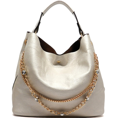 Rhinestone Chain 2-in-1 Shoulder Bag
