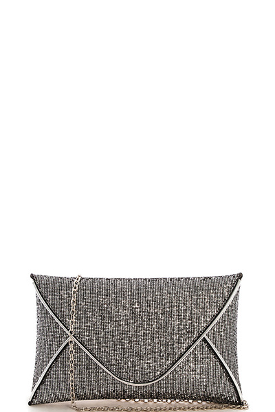 Fashion Sparkling Envelope Clutch with Chain