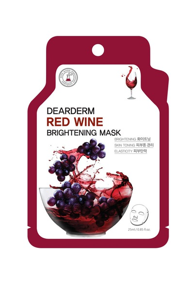 DEARDERM RED WINE BRIGHT FACE MASK